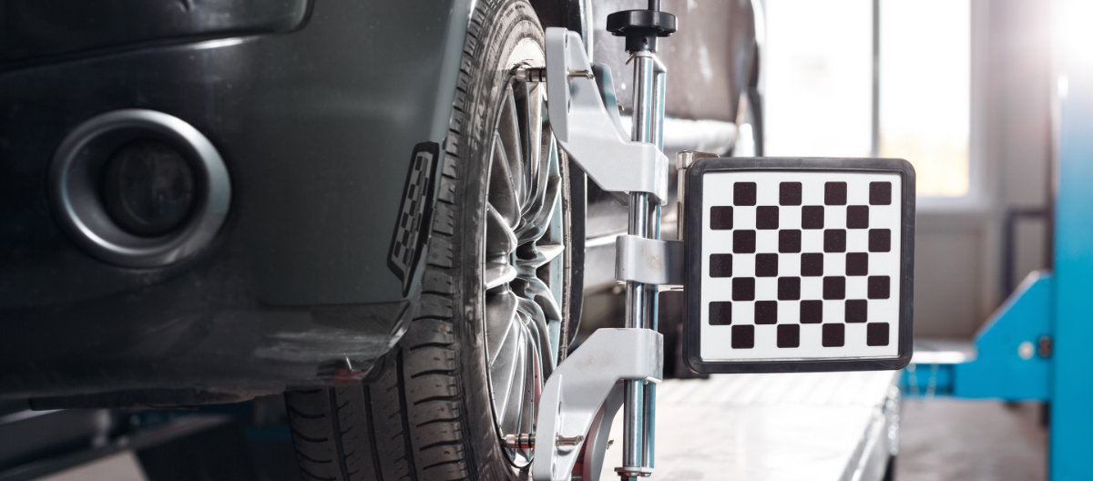 A vehicle having its wheels aligned - Wheel Alignment Thirsk